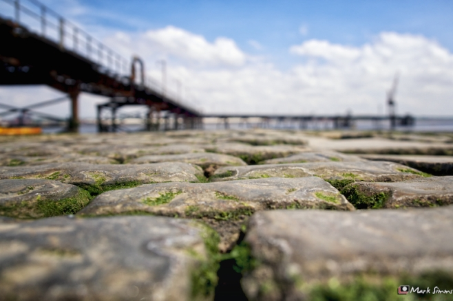 Cobbles, Jetty, Rock Ferry, Wirral, England