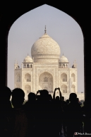 First View of the Taj Mahal, Agra, Uttar Pradesh, India