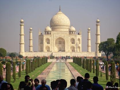 First View of the Taj Mahal, Agra, Uttar Pradesh, India