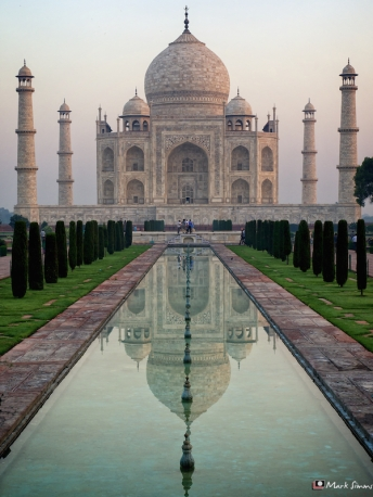 Taj Mahal Reflected, Agra, Uttar Pradesh, India