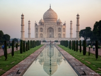 Taj Mahal Reflected, Agra, Uttar Pradesh, India