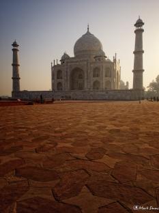 Contre-jour Taj Mahal, Agra, Uttar Pradesh, India