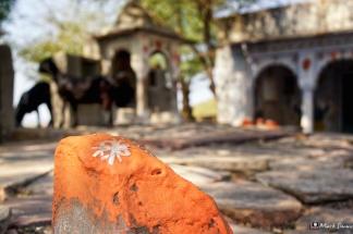 Village Life, Hindu, Temples, Shrines, Ramathra, Rajasthan, India