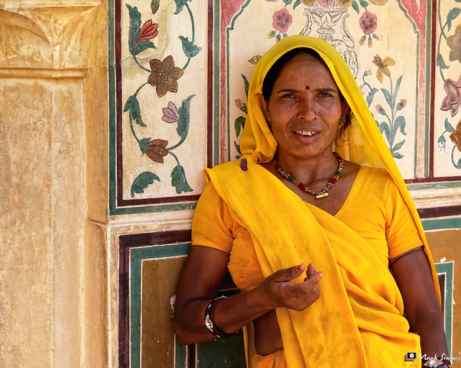 Portrait, Amber Fort, Jaipur, Rajasthan, India