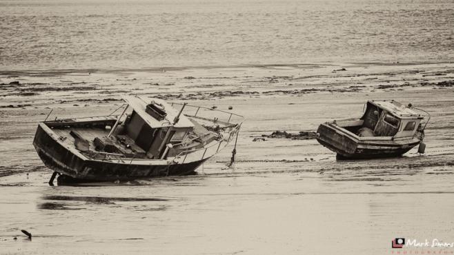 Boats, River Mersey, Rock Ferry, Wirral, Merseyside, England