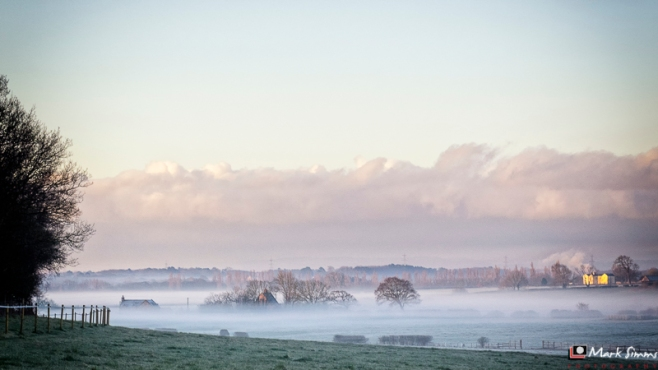 Misty Morning, Storeton, Wirral, Merseyside, England