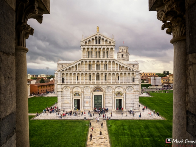 The View from the Baptistry, Piazza dei Miracoli, Pisa, Tuscany, Italy