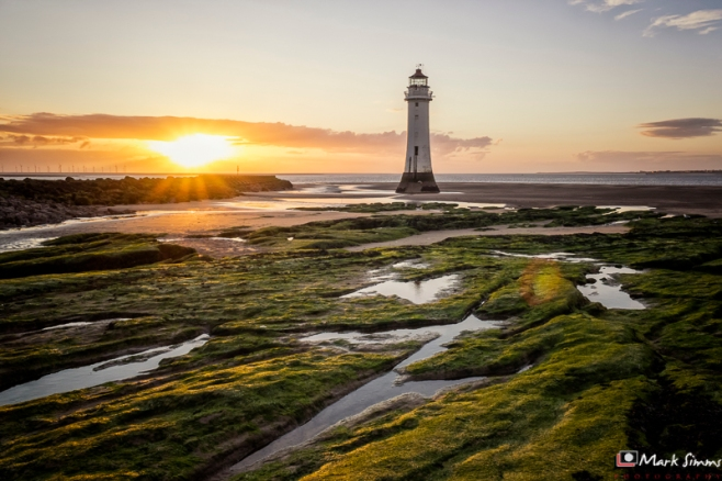 Sunset at Perch Rock Lighthouse, New Brighton, Wirral, England