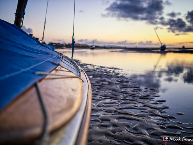 Boats on the Coast, Meols, Wirral, Merseyside, England