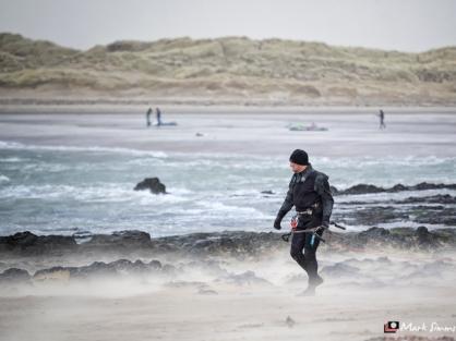 Windsurfers, Rhosneigr, Anglesey, Wales, UK
