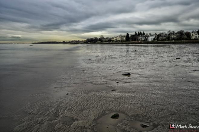 Mersey Mudflats, Rock Ferry, Wirral, Merseyside, England