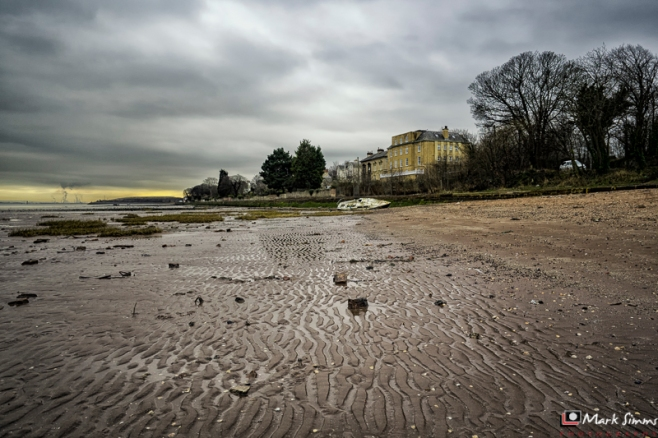 Mersey Mudflats, Rock Ferry, Wirral, Merseyside, England