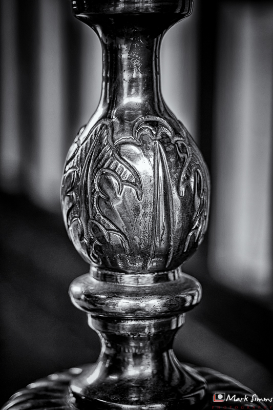 Candlestick, Rufford Old Hall, Ormskirk, Lancashire, England
