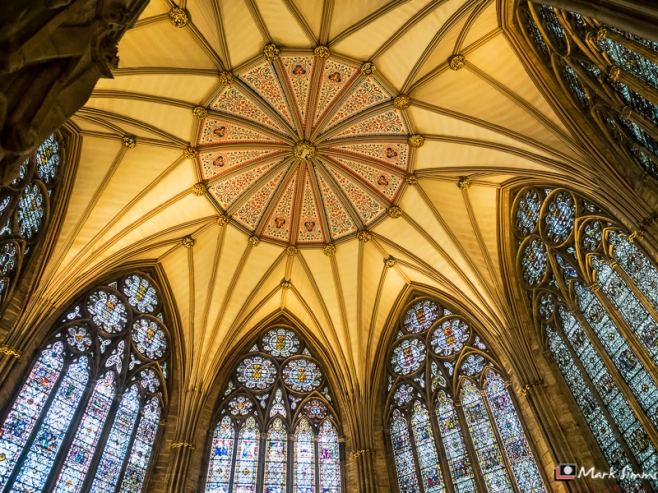 Chapter House Ceiling, Minster, York, Yorkshire, England