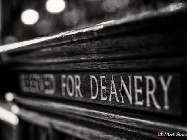 Reserved For Deanery, Minster, York, Yorkshire, England