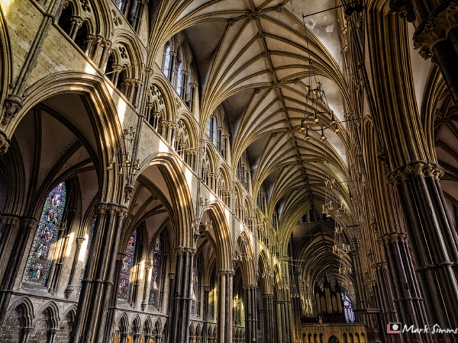 Cathedral Interior, Lincoln, Lincolnshire, England
