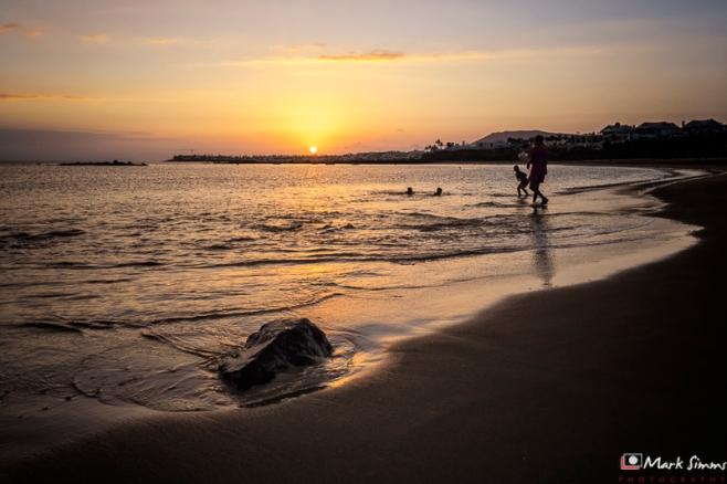 Sunset, Playa Blanca, Lanzarote, Canary Islands, Spain