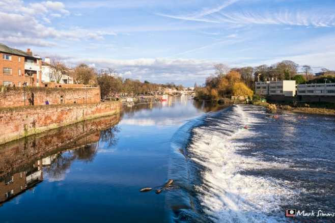 River Dee, Chester, Cheshire, England, UK