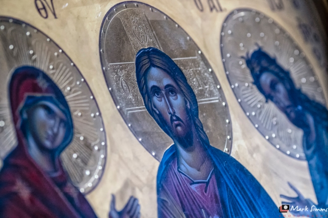 Greek Orthodox Cathedral, Fira, Santorini, Greece, Europe
