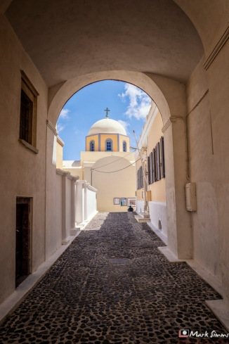 Roman Catholic Cathedral, Fira, Santorini, Greece, Europe