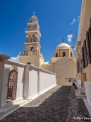 Roman Catholic Cathedral, Fira, Santorini, Greece, Europe