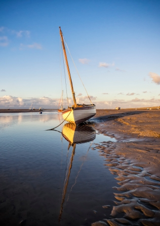 Sail Boat on the Shore, Hoylake, Wirral