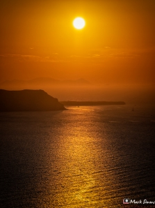 Sunset, Santorini, Greece, Europe