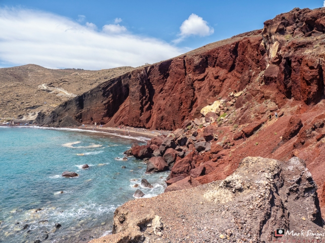 Red Beach, Akrotiri, Santorini, Greece, Europe
