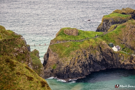 Carrick-a-Rede Rope Bridge, Antrim, Northern Ireland, UK