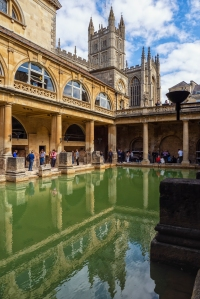 The Abbey & Roman Baths, Bath, Somerset