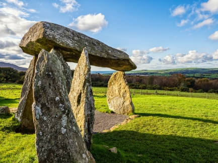Pentre Ifan Burial Chamber, Pembrokeshire, Wales